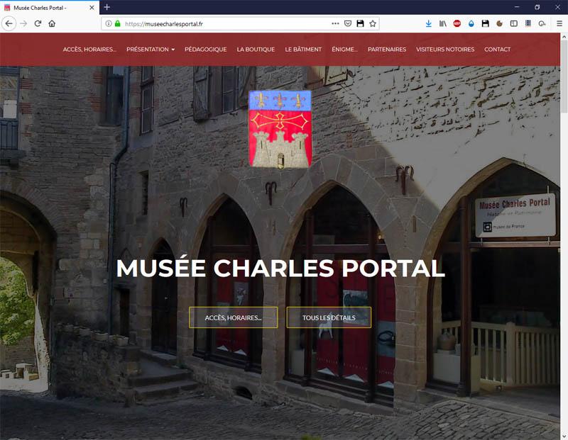 Site web du musée Charles Portal - Copie d'écran