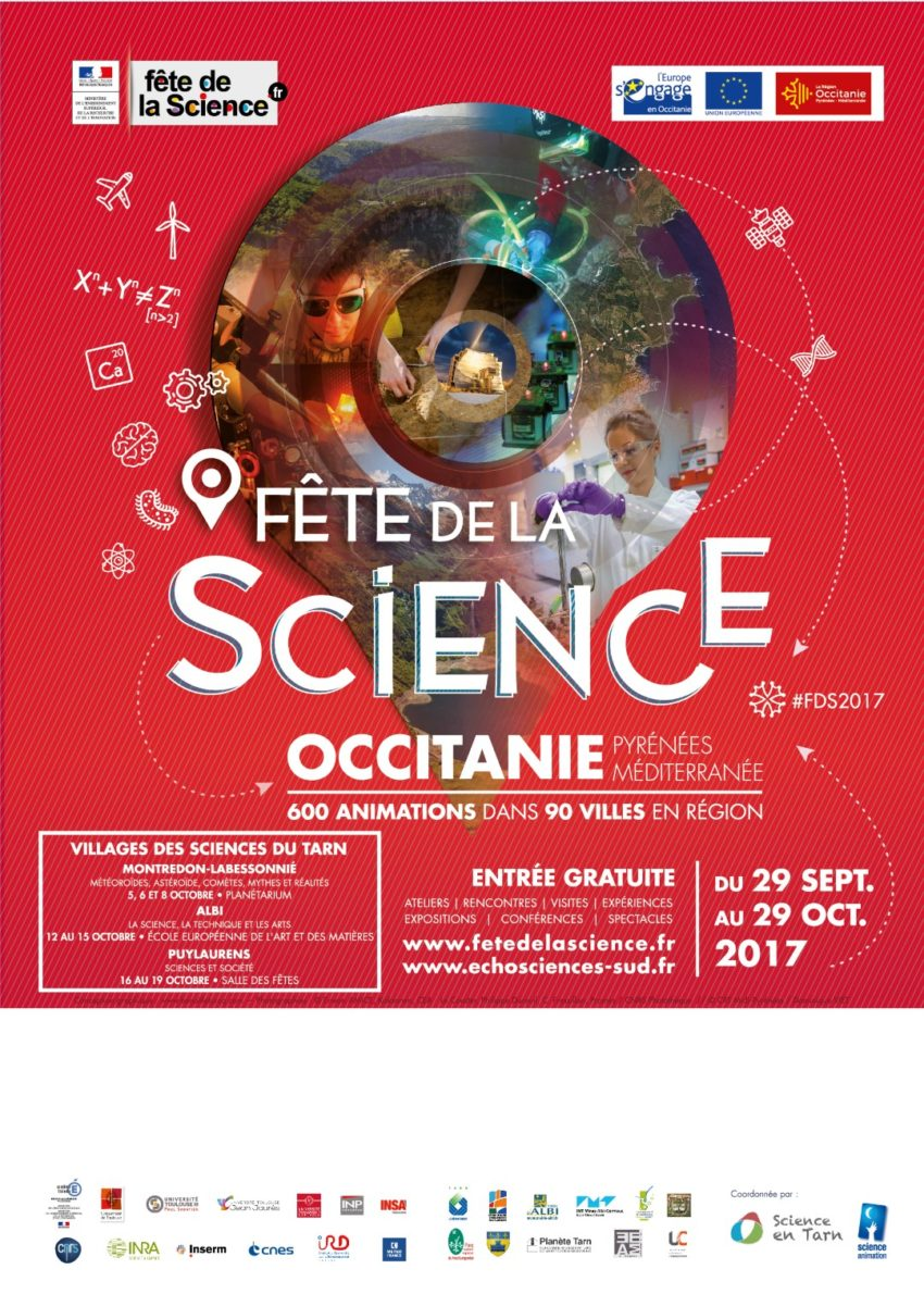 Affiche fête de la science 2017 Tarn Occitanie