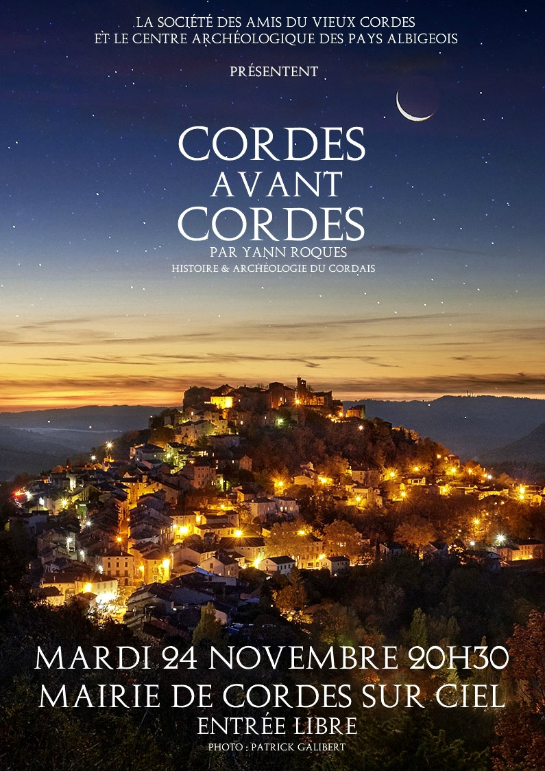 Affiche conférence Cordes avant Cordes