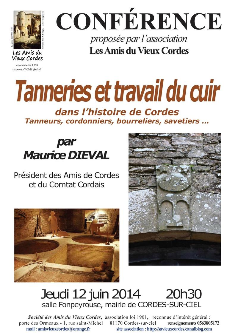 Affiche conférence travail du cuir et tanneries