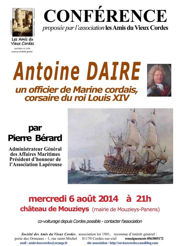 Affiche Conférence Antoine DAIRE