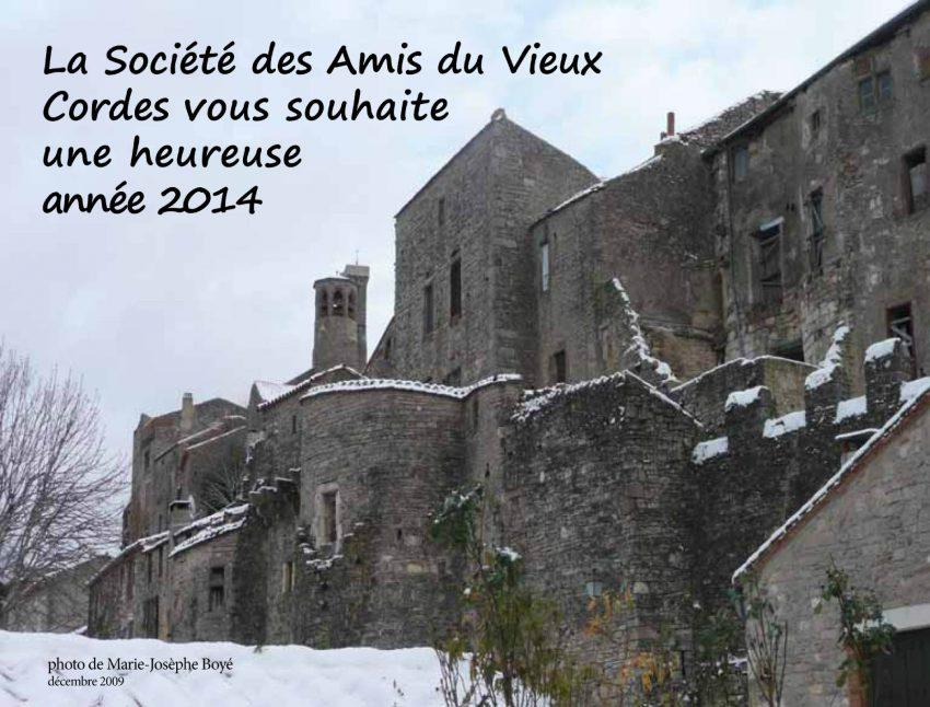 Société des Amis du Vieux Cordes - Voeux 2014