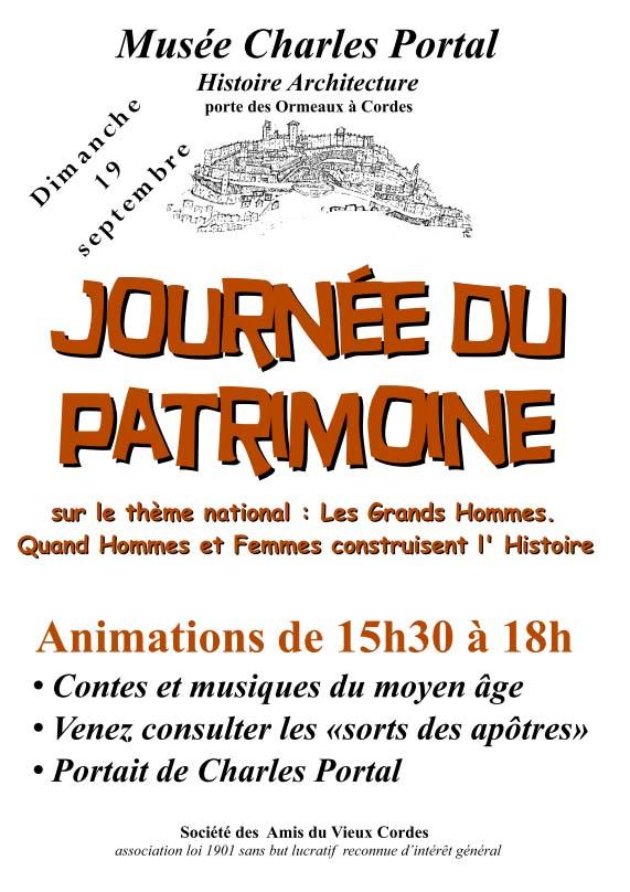 Affiche - Journée du patrimoine 2010