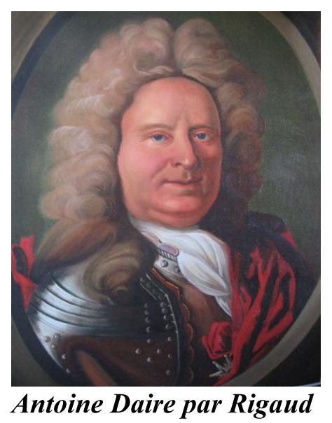 Antoine DAIRE, corsaire du Roi, peint par Rigaud
