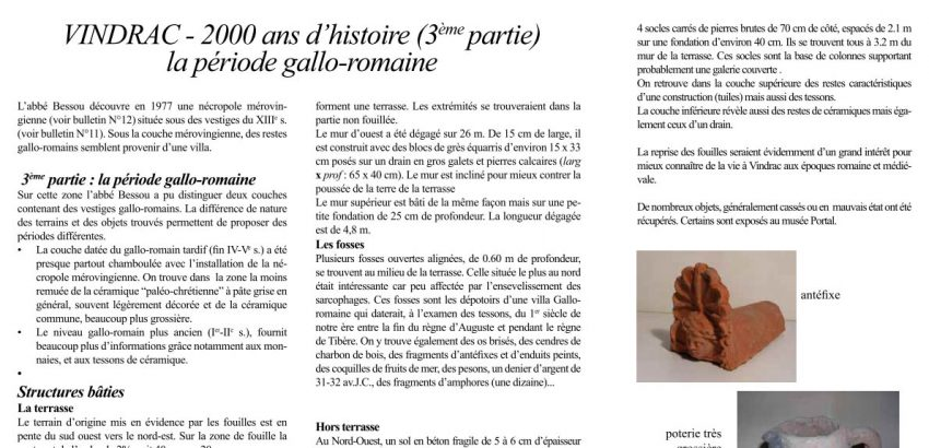 Bulletin 13 - VINDRAC - 2000 ans d'histoire 3