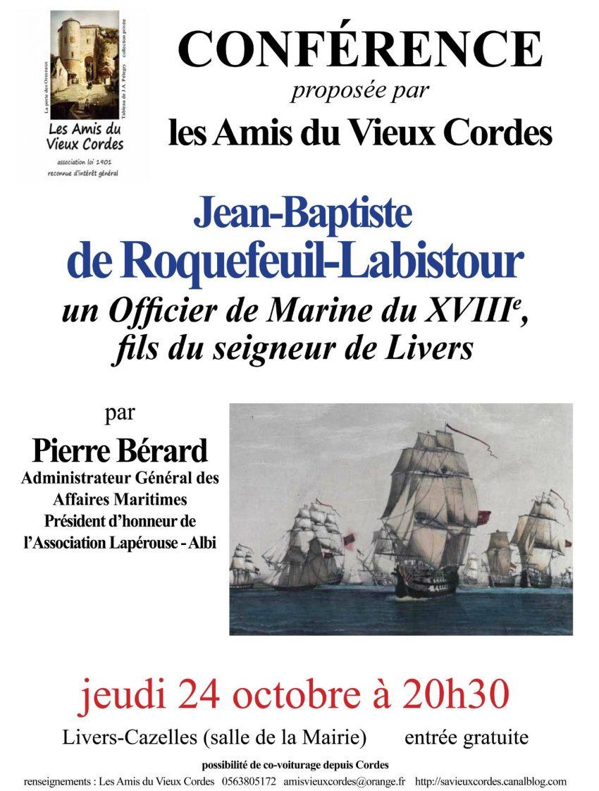 Conférence officier de marine - Société des Amis du Vieux Cordes 2013