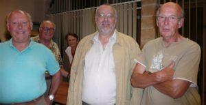 Jean-Pierre Barraqué entouré de Jean-Paul Vigier (à droite) et de Pierre Chatelus