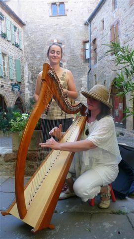 Journée du patrimoine 2010 - Harpiste devant le musée Charles Portal