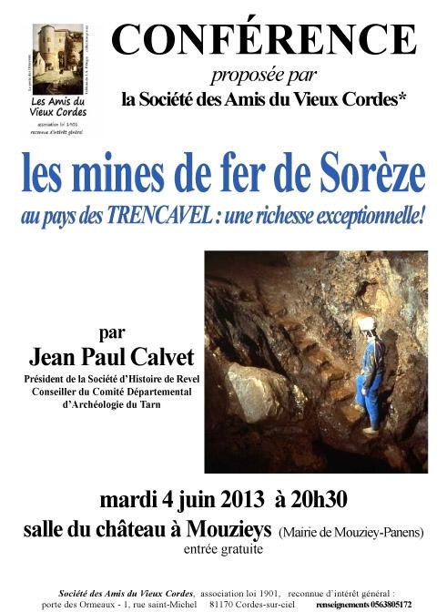 Les mines de fer de Sorèze -Affiche