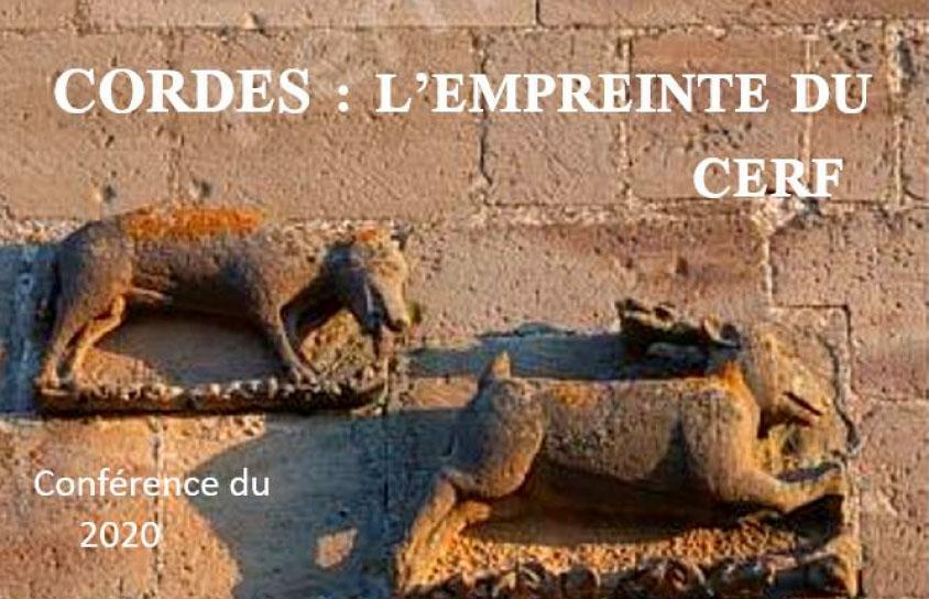 Conférence : l'empreinte du cerf à Cordes